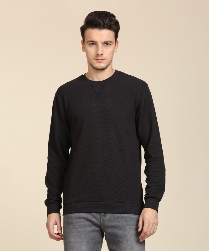 Indian Terrain Full Sleeve Striped Mens Sweatshirt