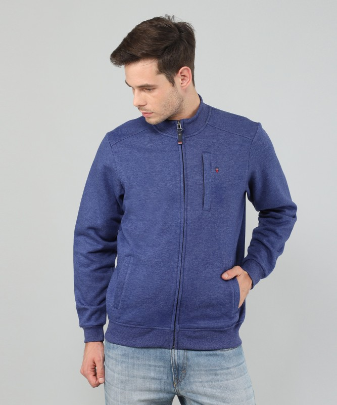 Louis Philippe Full Sleeve Solid Mens Sweatshirt