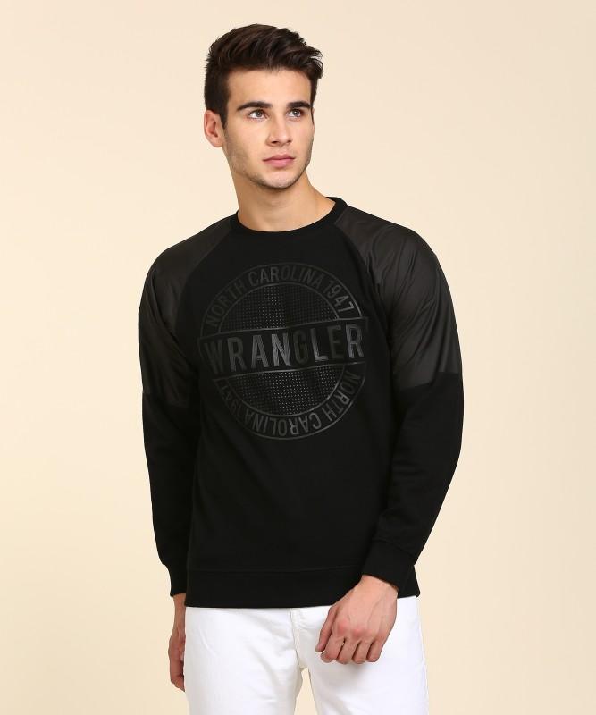 Wrangler Full Sleeve Printed Mens Sweatshirt