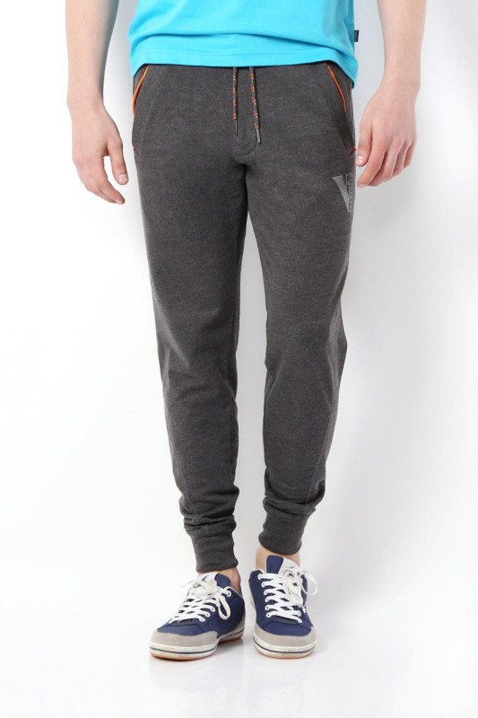 Van Heusen Solid Mens Grey Track Pants