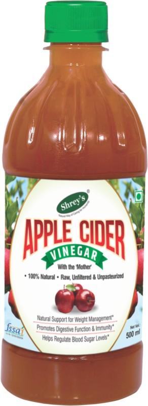 Shrey's Natural Apple Cider Vinegar with Mother of Vinegar – 500 ml | Raw, Unfiltered & Unpasteurized Vinegar(500 ml)