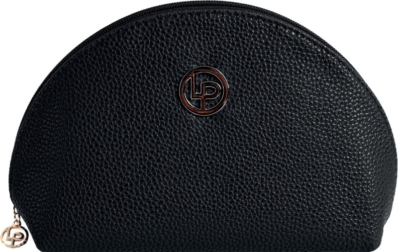 Lino Perros Women Casual Black Artificial Leather Wallet(2 Card Slots)