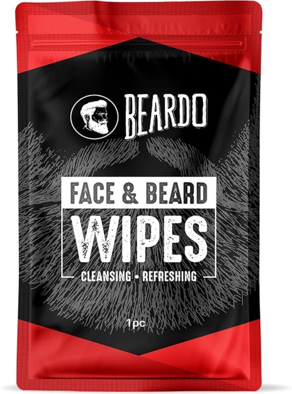 Beardo Face & Beard Wipes For Cleansing & Refreshing(Pack of 10)