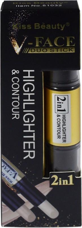 Kiss Beauty 2in1 V-FACE Concealer Highlighter & Contour Dou Stick 51032-A Concealer(Porcelain, 8 g)