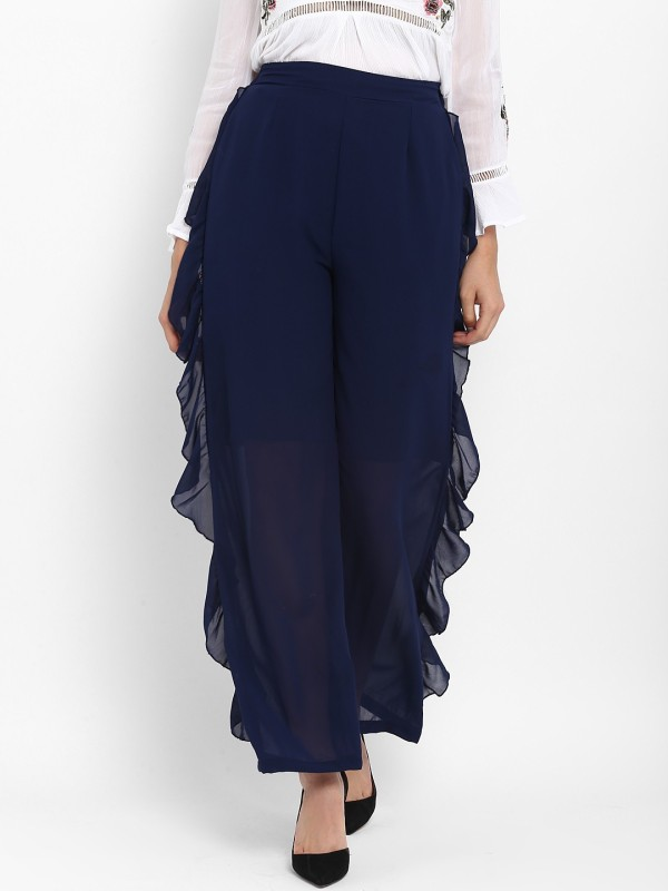 Lady Stark Flared Women's Dark Blue Trousers