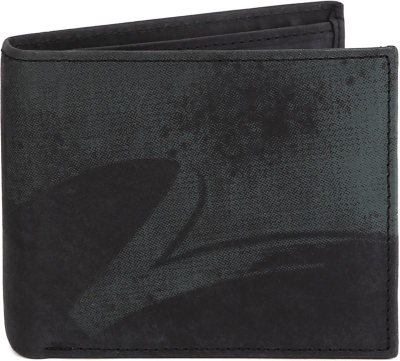 Spykar Men Black, Grey Genuine Leather Wallet(8 Card Slots)