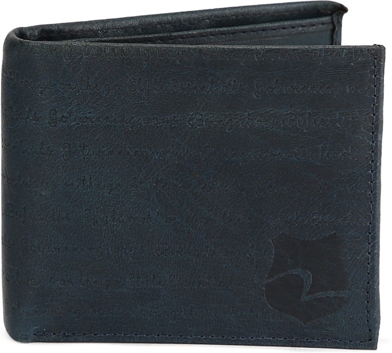 Spykar Men Blue Genuine Leather Wallet(8 Card Slots)