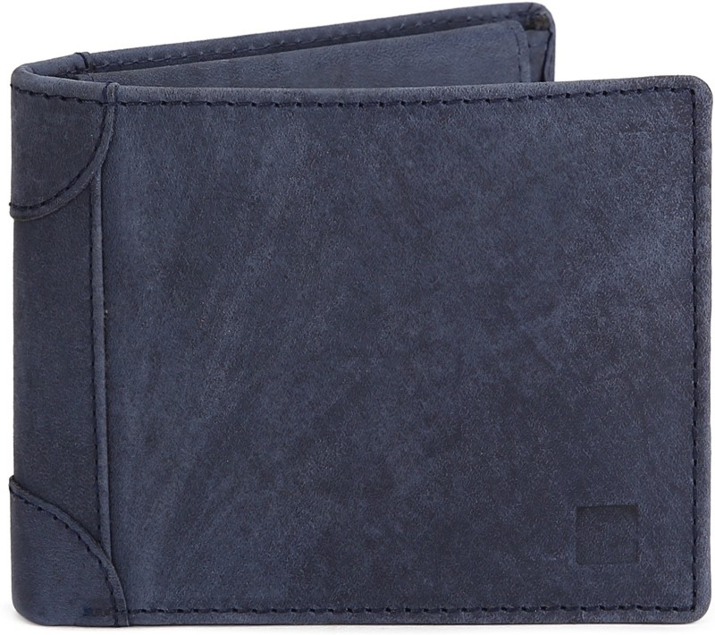 Spykar Men Blue Genuine Leather Wallet(4 Card Slots)