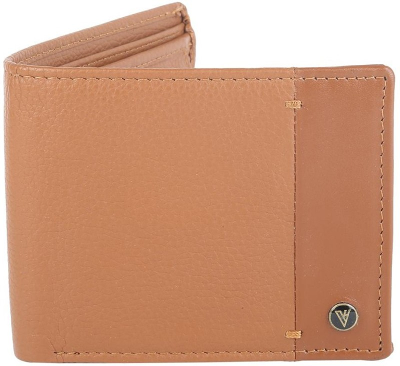 Van Heusen Men Casual Tan Genuine Leather Wallet(4 Card Slots)