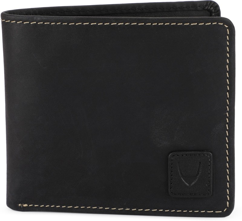Hidesign Men Black Genuine Leather Wallet(7 Card Slots)