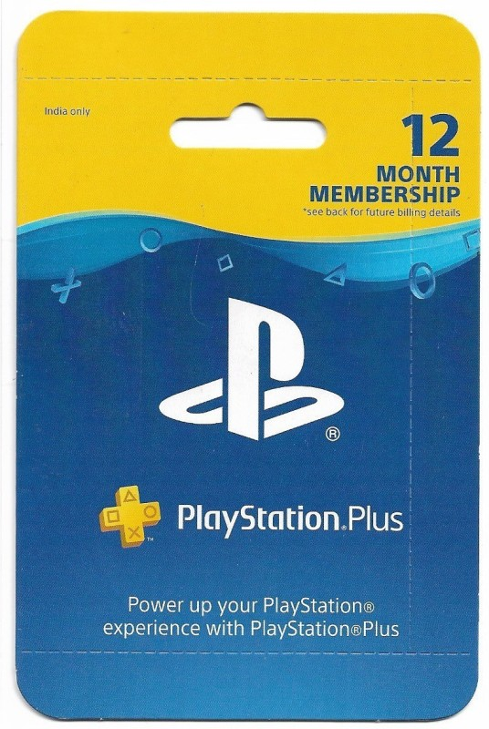 PlayStation Plus 12 Month Membership (India) for PS4, PS3, PS Vita