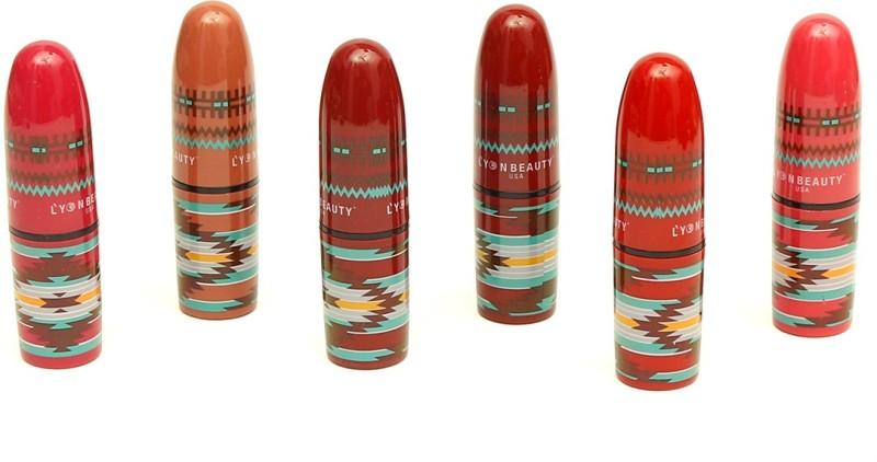 lyon beauty,usa Lipstics combo of 6 popular color premium lipstics(PINK, RED, ORANGE, 30 g)