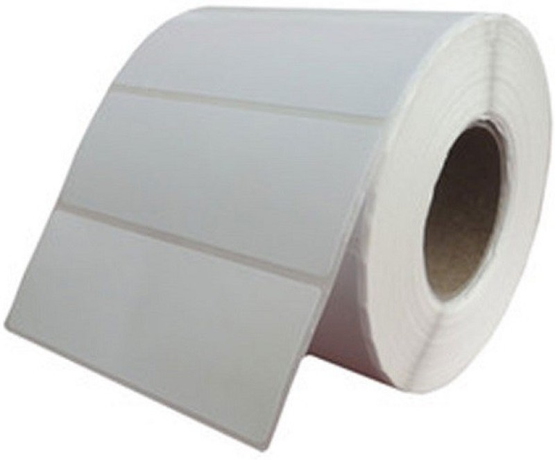 Aditya Labels 70 mm X 35 mm, Thermal Transfer Barcode Labels, 1500 Labels In Roll, Permanent Self Adhesive Paper Label(Smooth White)