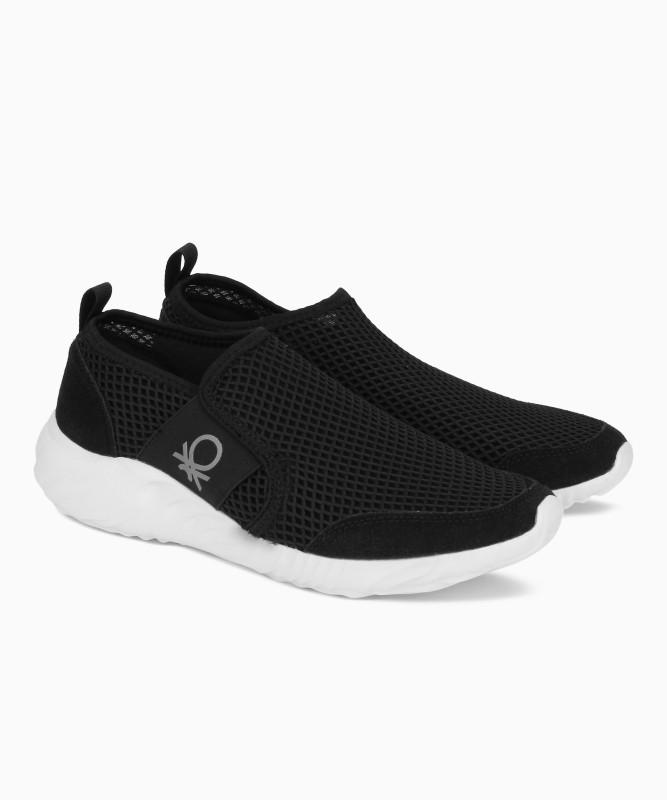 United Colors of Benetton Walking Shoe For Men(Black)