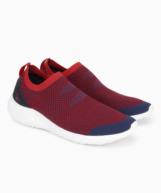 United Colors of Benetton Walking Shoe For Men(Red)
