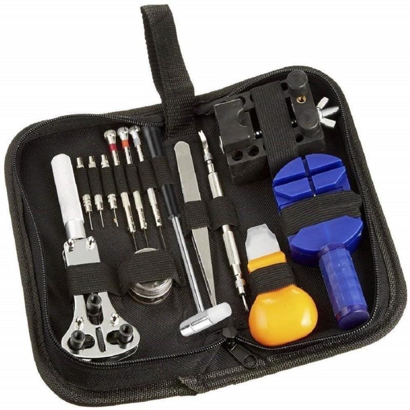 Techtest 13 Pcs Watch Opener Repairing Tools Kit Repair 13-piece Watch Repair Kit