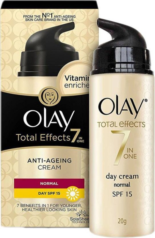 Olay Total Effects 7 In 1 Anti Ageing Day Cream - Normal, SPF 15 (20 g) Pack Of 2(80 g)