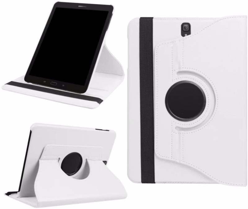 TGK Book Cover for Samsung Galaxy Tab S3 9.7 Inch (Sm-T820, T825) 360 Degree Rotating Leather Flip Case Stand(White, Cases with Holder)