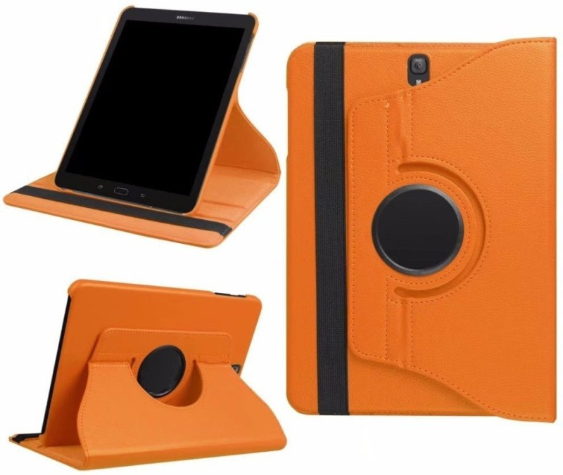 TGK Book Cover for Samsung Galaxy Tab S3 9.7 Inch (Sm-T820, T825) 360 Degree Rotating Leather Flip Case Stand(Orange, Cases with Holder)