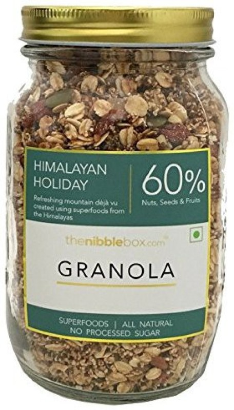 TheNibbleBox Himalayan Holiday Breakfast Granola Jar 500g(500 g, Glass Bottle)