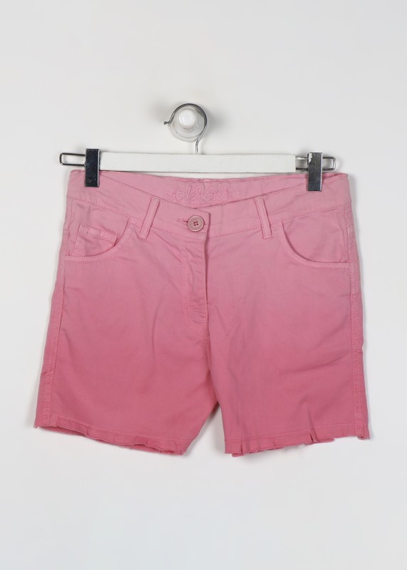 612 League Short For Girls Casual Solid Cotton(Pink, Pack of 1)