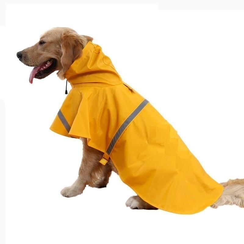 Birds' Park Dog Rain Jacket High Neck