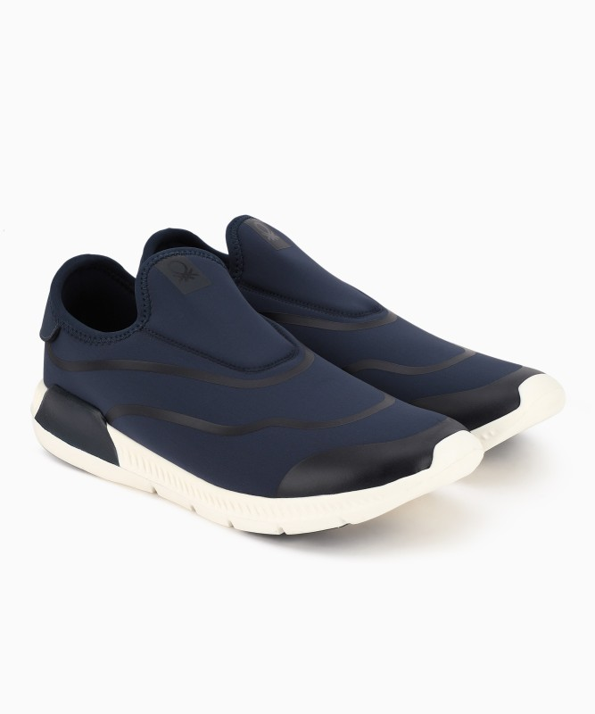 United Colors of Benetton Walking Shoes For Men(Blue)