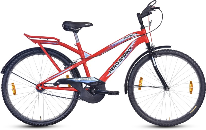 Hero Skyper 26T 26 T Mountain/Hardtail Cycle(Single Speed, Red)