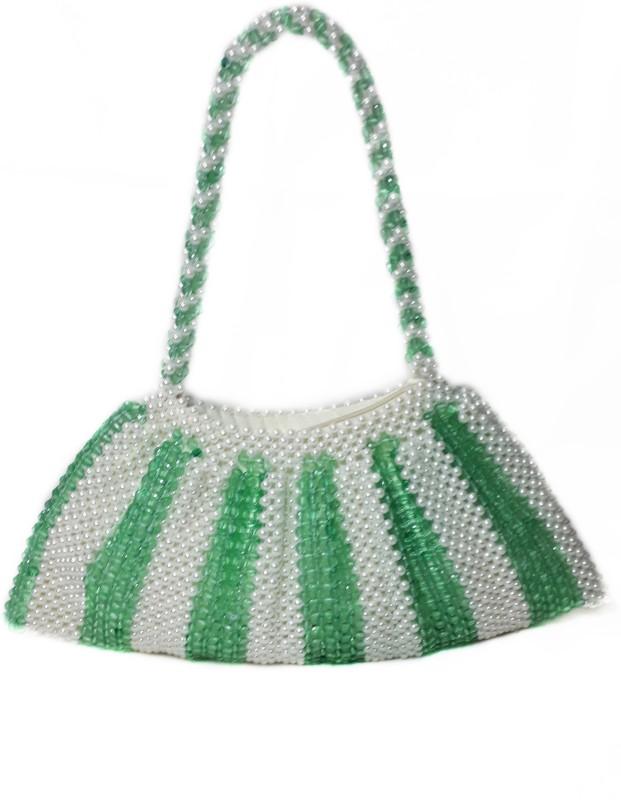 RITA'S Women White, Green Hand-held Bag