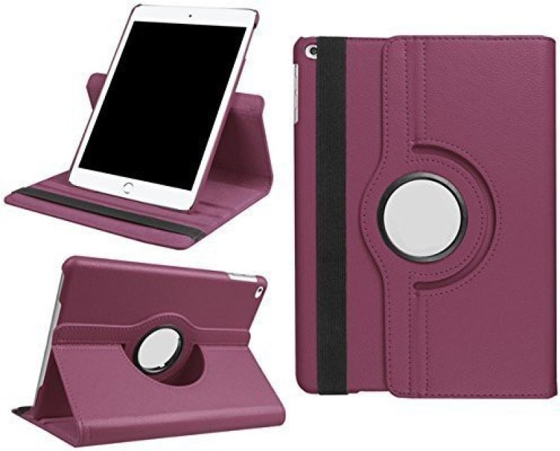 TGK Book Cover for Apple iPad 9.7 inch (2018) 6th Generation A1893, A1954 Rotating Stand Smart Flip Case(Purple, Cases with Holder)