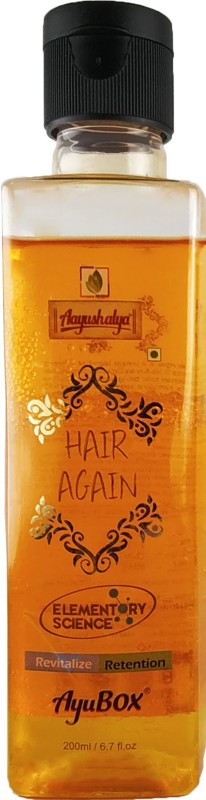 Aayushalya Hair Again Baldness Treatment Hair oil - Hair Gain, Stops Heavy Hair Fall, Stops Greying of Hair, Helps Regain Hair(200 ml)