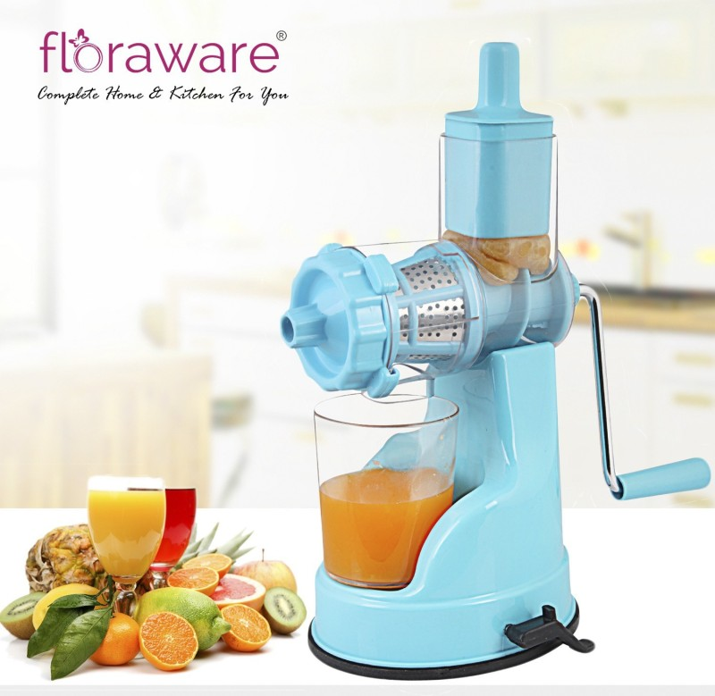 Floraware with Suction Base Fruit & Vegetable Plastic Hand Juicer(Blue Pack of 1)