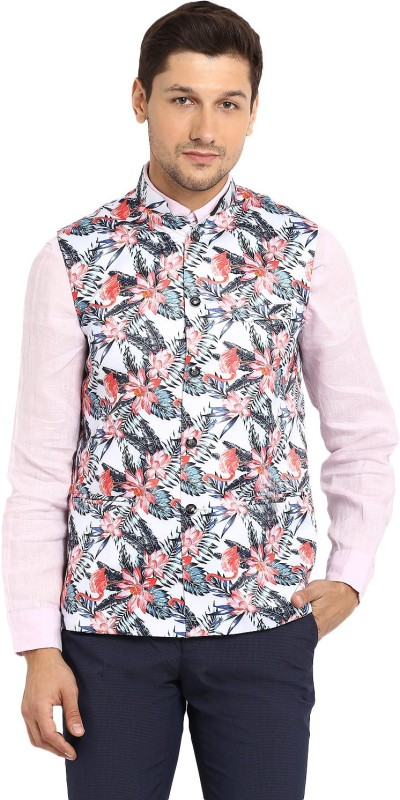 Routeen Sleeveless Printed Men Jacket