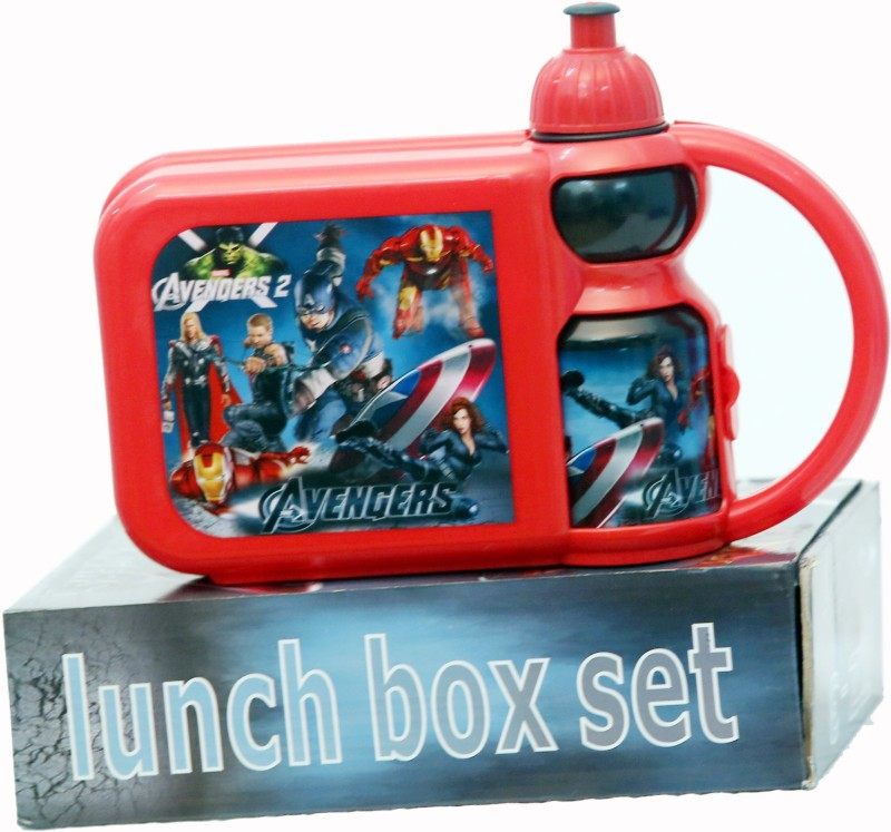 6ixtech Spider man Print Lunh Box water bottle Set 3 Containers Lunch Box(750 ml)