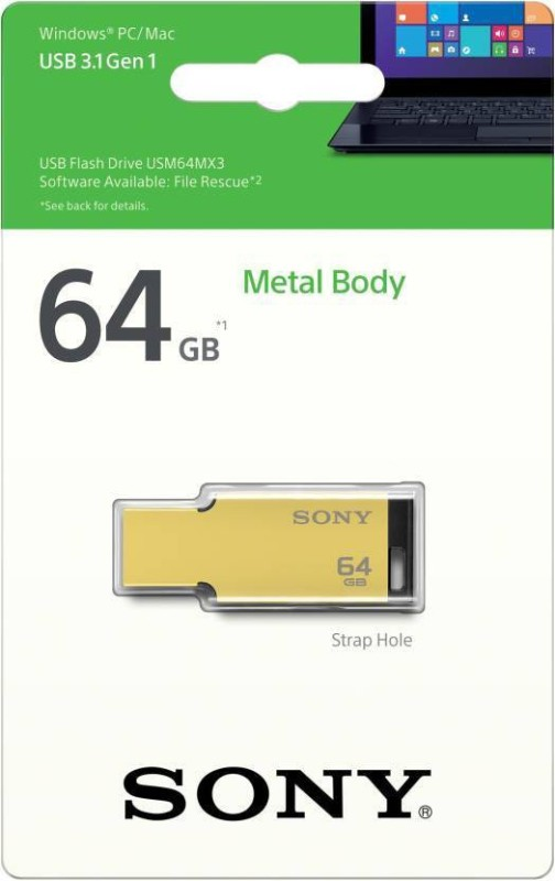 Sony USM64MX3/N 64 GB Pen Drive(Gold)