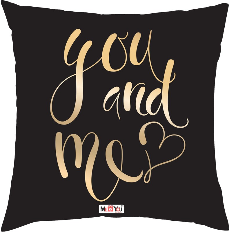 ME&YOU Quote Printed Decorative Cushion Pack of 1(Multicolor)