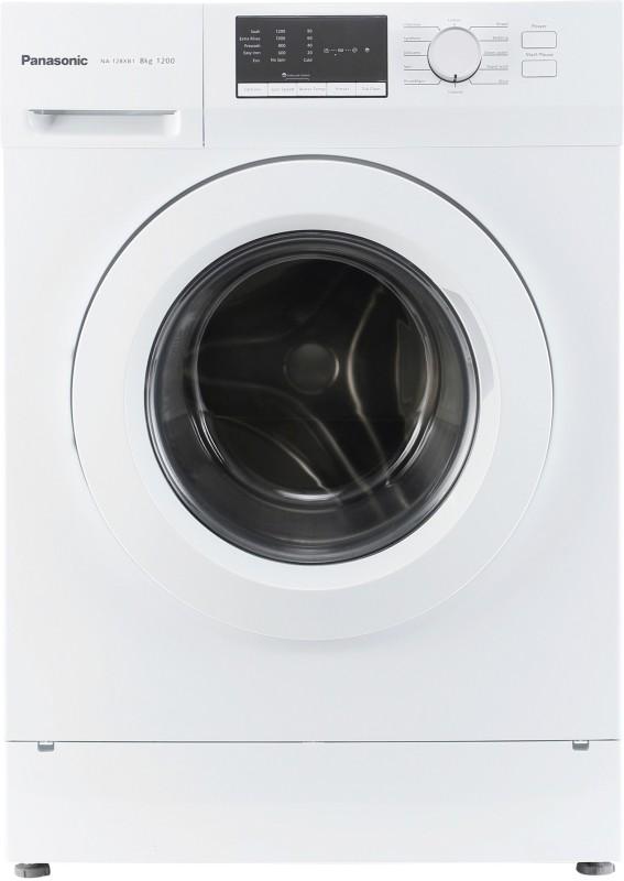 Panasonic 8 kg Fully Automatic Front Load Washing Machine White(NA-128XB1W01)
