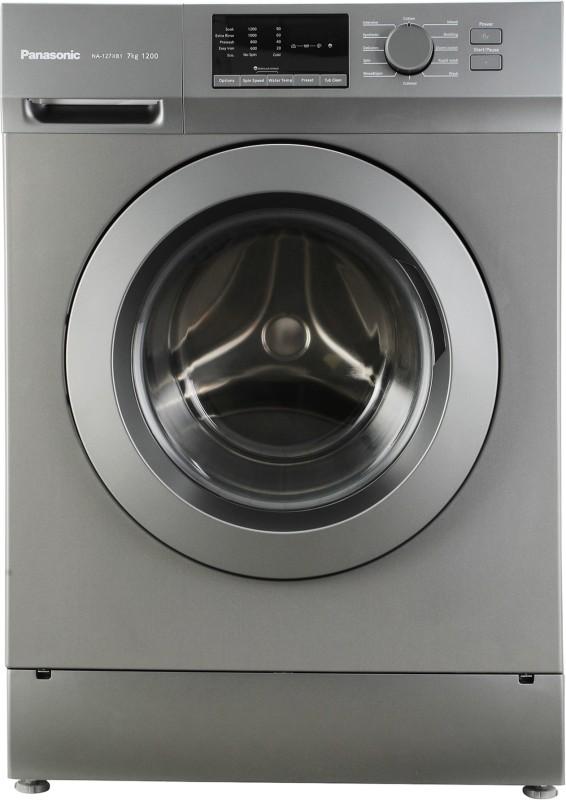 Panasonic 7 kg Fully Automatic Front Load Washing Machine Grey(NA-127XB1L01)