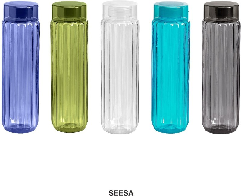 Steelo Seesa Plastic Water Bottle 1000 ml Bottle(Pack of 4, Multicolor)