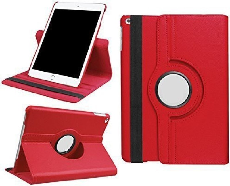 TGK Book Cover for Apple iPad 9.7 inch (2018) 6th Generation A1893, A1954 Rotating Stand Smart Flip Case(Red, Cases with Holder)
