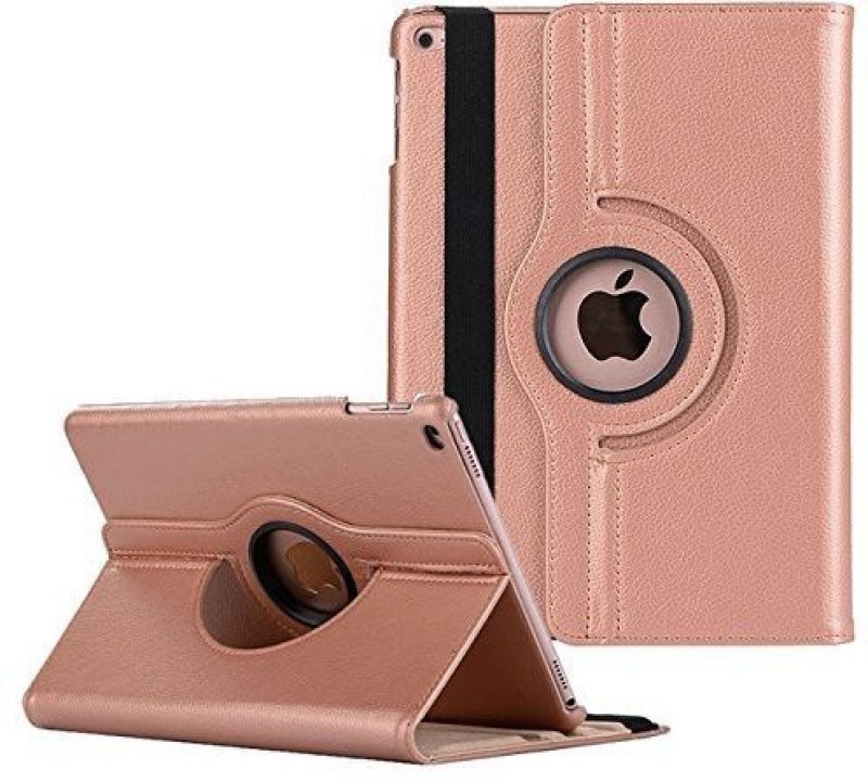 TGK Book Cover for Apple iPad 9.7 inch (2018) 6th Generation A1893, A1954 Rotating Stand Smart Flip Case(Gold, Cases with Holder)