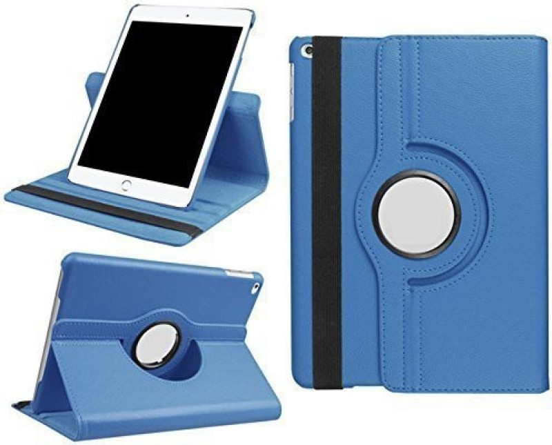 TGK Book Cover For Apple IPad 9.7 Inch (2018) 6th Generation A1893, A1954 Rotating Stand Smart Flip Case(Blue, Cases With Holder)