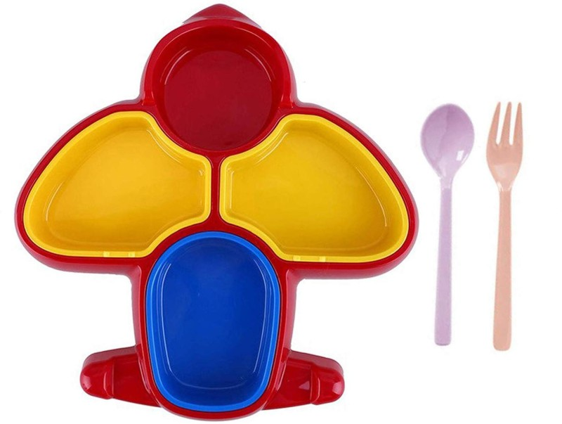 Confidence Dinner Plate for Kids, Stylish New Design Dinner Plate, Multicolor Dinner Set(Plastic)