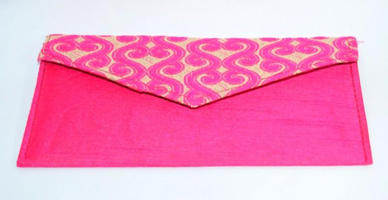 oramsa Fancy Designed Pink Color Shagun Velvet Envelop Envelopes(Pack of 1 Pink)