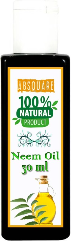 absquare 100 % Natural & Pure Neem OIl 30 ml (Pure Organic Neem Oil Cold Pressed Oil for Hair) Hair Oil(30 ml)