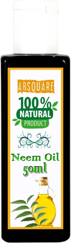 absquare 100 % Natural & Pure Neem OIl 50 ml (Pure Organic Neem Oil Cold Pressed Oil for Hair and Skin) Hair Oil(50 ml)