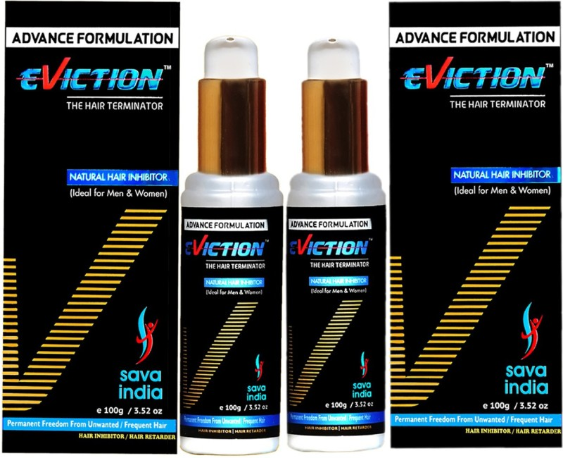 EVICTION Natural Hair Inhibitor- (2 Packs) Permanent Hair Removal Cream (200 g) Cream(200 g)
