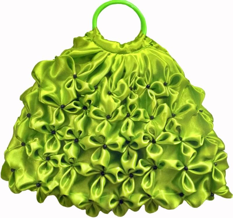 Rosy Women Green Hand-held Bag