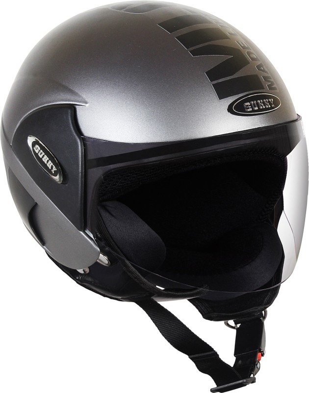 Sunny NEWTO Motorbike Helmet(SILVER BLACK)