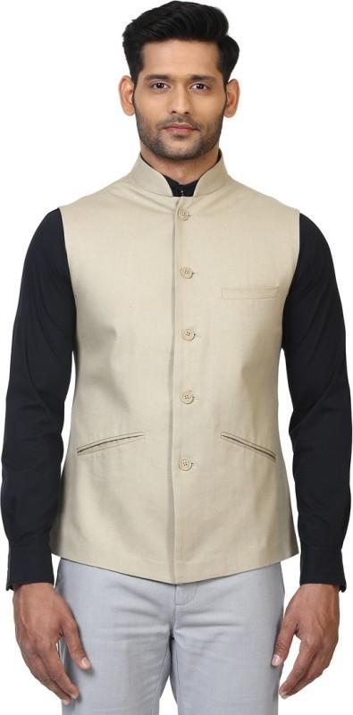 ethnix Sleeveless Solid Men Jacket